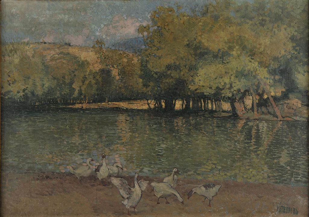 Nikola Petrov (1881–1916) <br> Erma River near Tran, 1910