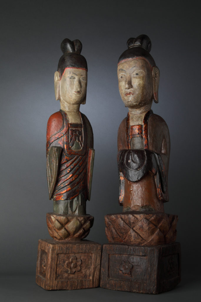 Прислужници в пагода Чан, XVII в., Виетнам