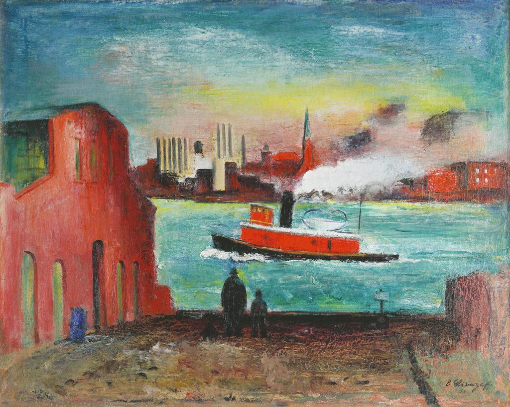 Борис Елисеев (1901-1973) <br> Ийст Ривър, Ню Йорк, 1938