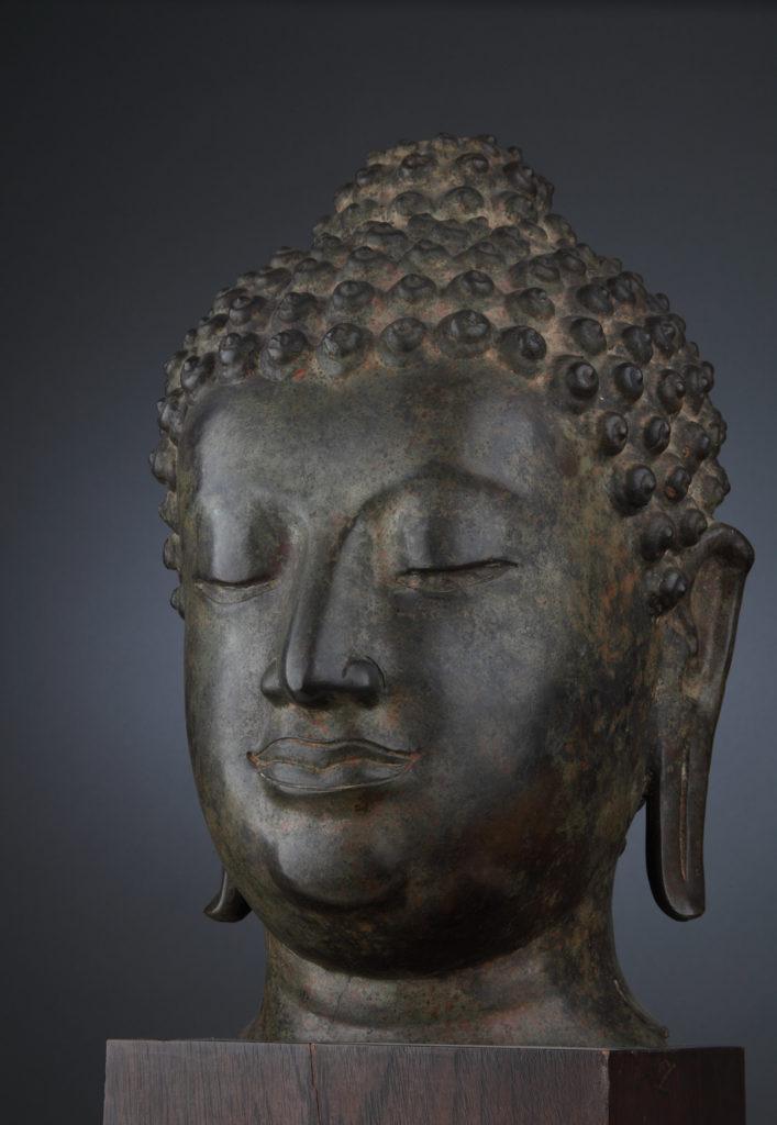 Глава на Буда, XIII-XV в., Тайланд  <br> Северен Сиам, Сукхотай, стил Чан