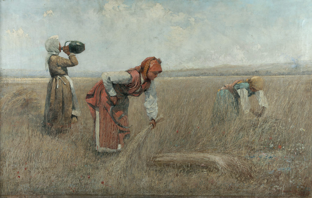 Ivan Angelov (1864–1924) <br> Harvest in Chepino, 1905