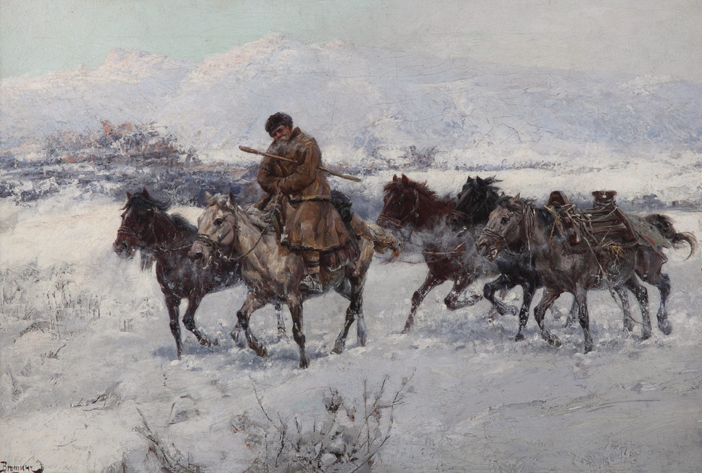 Jaroslav Věšín (1860–1915) <br> Returning from Market, 1898