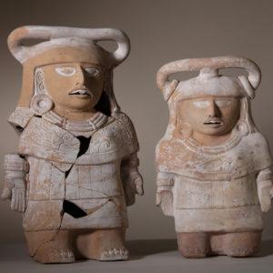 Figure-Rattles, late Classical period (600–900) <br> Jaina Island, Campeche, Maya Culture, Mexico
