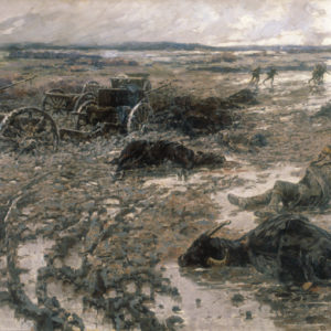 Jaroslav Věšín (1860–1915) <br> The Turkish Retreat at Lüleburgaz, 1914