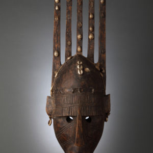 Mask with Cowrie Shells, Bambara Tribe, Mali