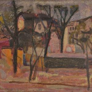 Генко Генков (1923–2006) <br> Пейзаж от София, 1959