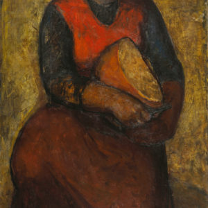 Svetlin Rusev (1933-2018) <br> Woman with Bread, 1962