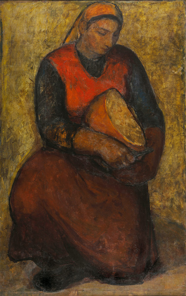Светлин Русев (1933-2018) <br> Жена с хляб, 1962