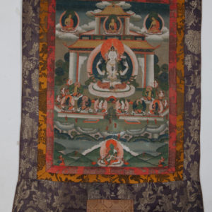 Бодхисатва Авалокитешвара, XIX в., Тибет Тханка