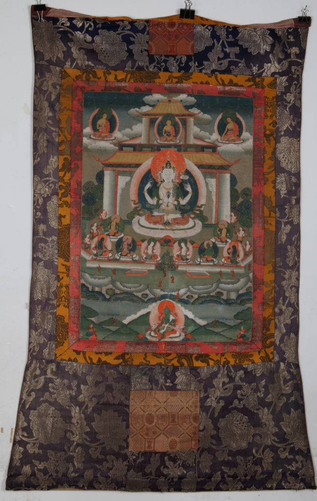 Bodhisattva Avalokiteshvara, 19th с., Tibet Thangka