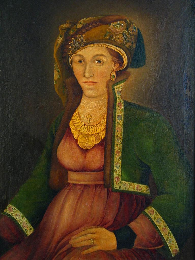 Zahari Zograf (1810–1853) <br> Portrait of Hristiyania Zografska, circa 1840