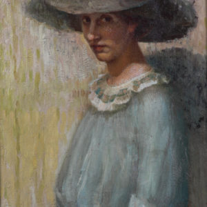 Nikola Marinov (1879–1948) <br> Portrait of the Artist's Wife, Frederica, 1908