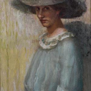 Никола Маринов (1879-1948) <br> Портрет на жената на художника Фредерика, 1908