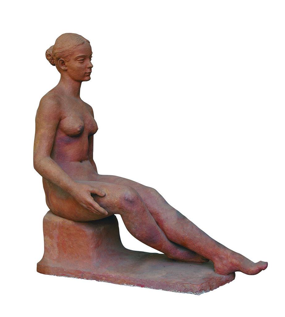 Васка Емануилова (1905-1985) <br> Седнала фигура, 1943