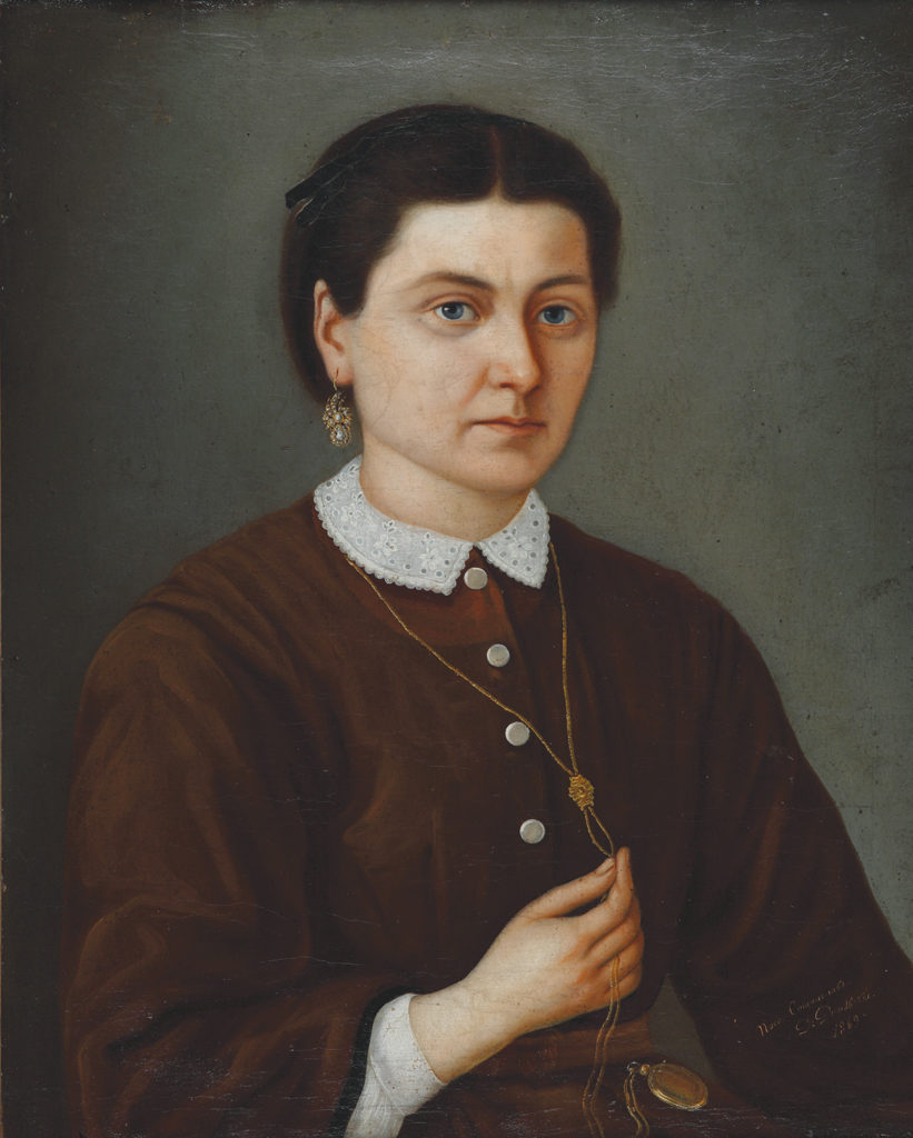 Stanislav Dospevski (1823–1878) <br> Portrait of Mariola Dospevska, 1869