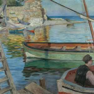 Yordan Kyuvliev (1877–1910) <br> The Quay at Messembria, 1910