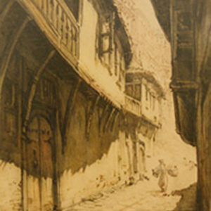 Петър Морозов (1880-1951) <br> Стръмна улица в Търново, 1920-те