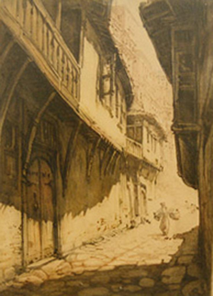 Petar Morozov (1880–1951) <br> Steep Street in Tarnovo, 1920s