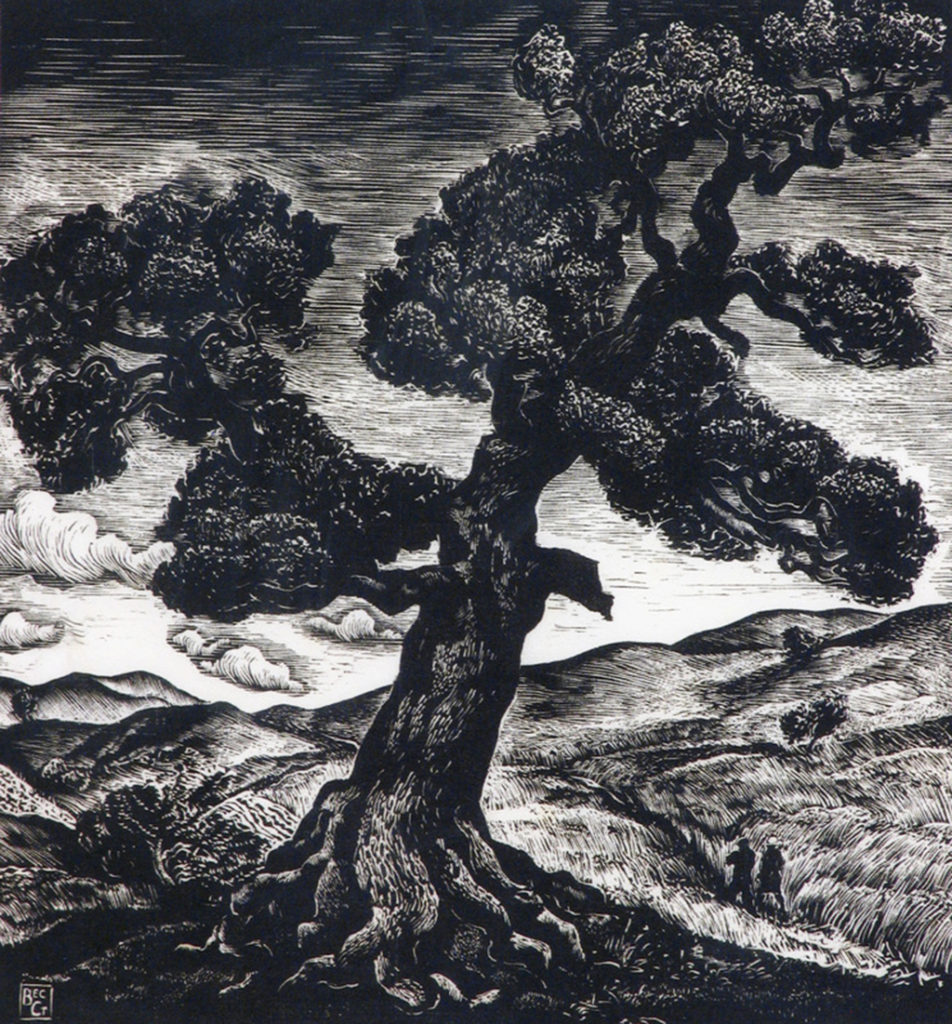 Veselin Staykov (1906–1970) <br> The Old Oak Tree, 1939