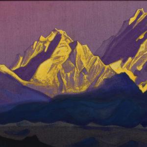 Николай Рьорих (1874-1947), Русия/Индия  <br> Залезът на слънцето, 1938