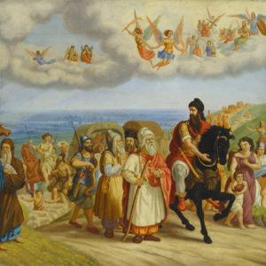 Николай Павлович (1835-1894) <br> Хан Аспарух с дружината си на път към Дунава, 1867-1870