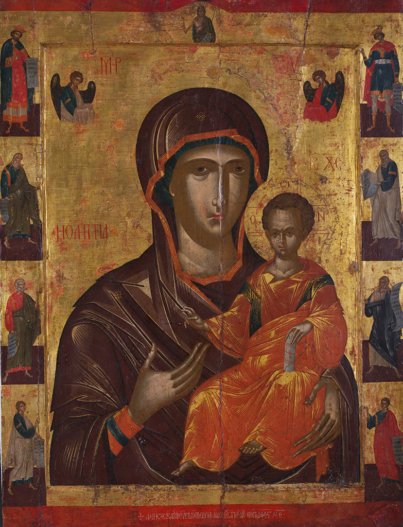 The Holy Virgin Hodegetria with Prophets, 1566 <br>Nesebar, the Church of St George the Elder