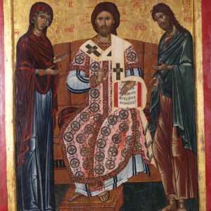 Deësis of Christ the High Priest, early 17th c. <br>Nesebar