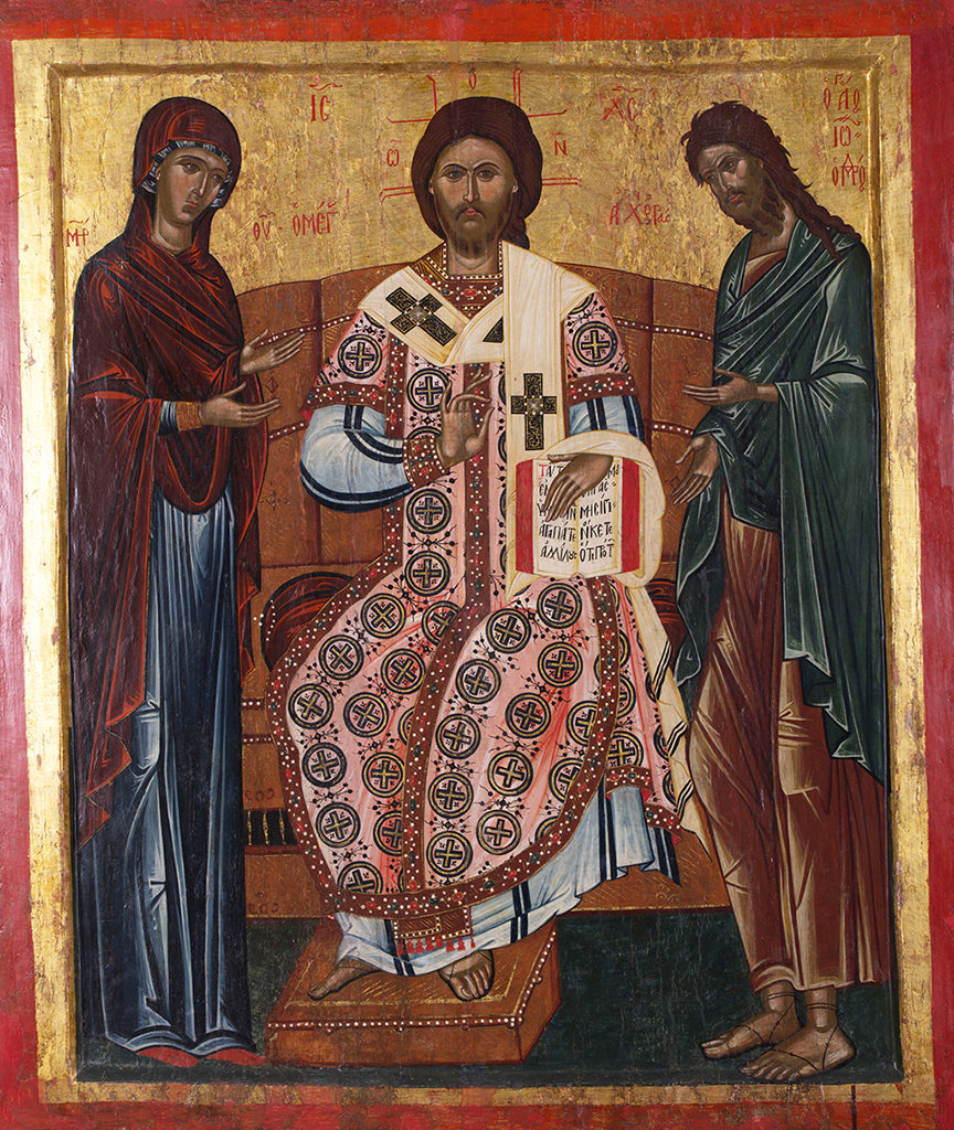 Deësis of Christ the High Priest, early 17th c. <br>Nesebar