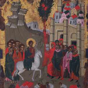 The Entry of the Lord into Jerusalem, ca. 1600 <br>Nesebar, the Church of St Stephen (New Metropoly Church)
