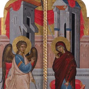 "Олтарни двери, ХV-ХVІ в. <br> Несебър, църква ""Св. Георги Големи"""