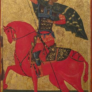 St Demetrius the Great Voivode on Horseback, 1617<br> Veliko Tarnovo