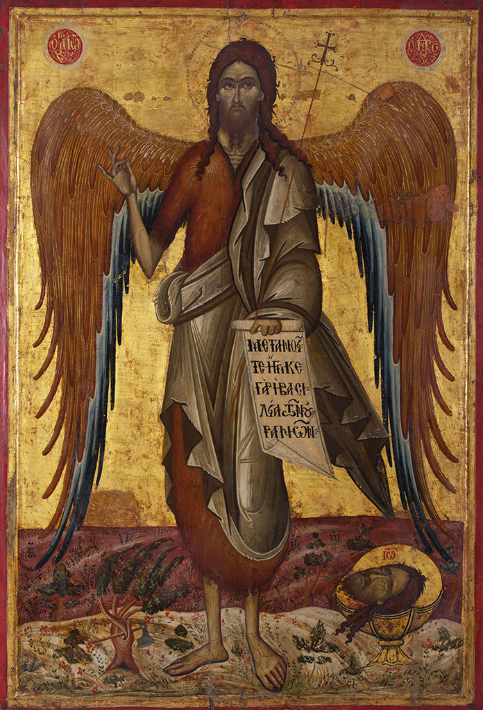 St John the Baptist, Angel of the Desert, early 18th c. <br> Melnik, icon painter Dionysius from Fourna