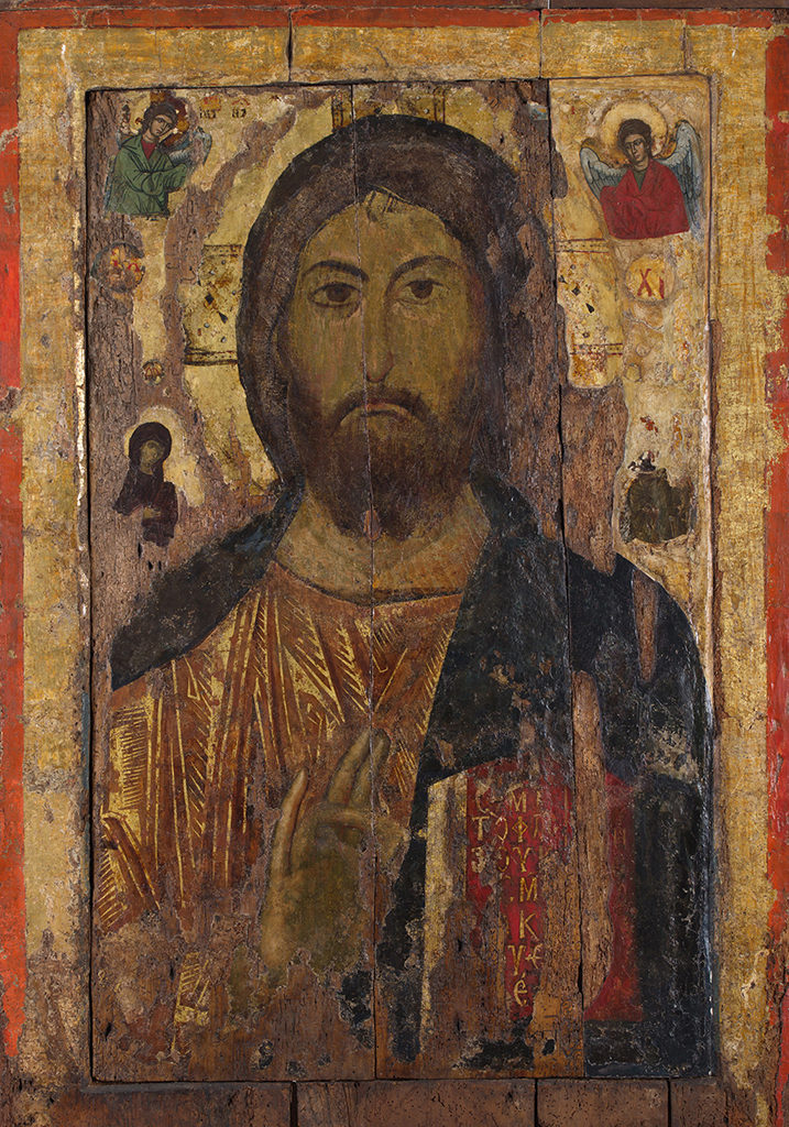 Christ Pantocrator—the Crucifixion of Christ<br>Nesebar, the Church of St Stephen