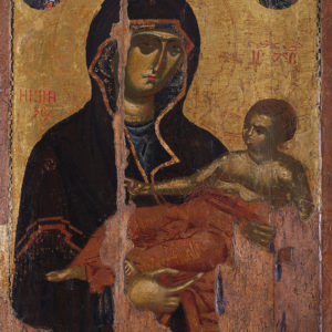 The Holy Virgin, Sovereign Lady of Life, 13th–14th c.<br> Nesebar, the Church of St Theodore