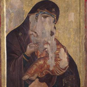 """Св. Богородица Елеуса – Христос Пантократор,  <br> Несебър, църква """"Св. Георги Мали"""" (?)"""