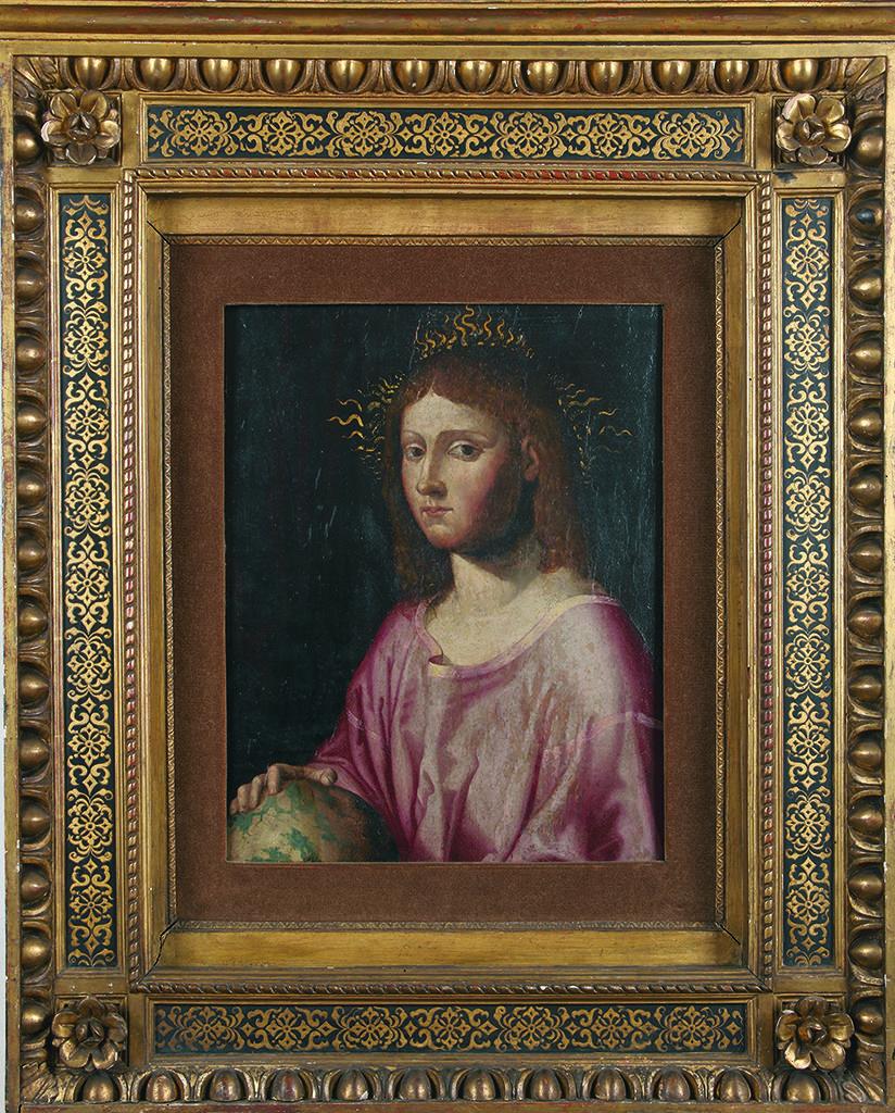 Giovanni Boltrаffio (1467–1516), Italy <br> Salvator Mundi, ca. 1500