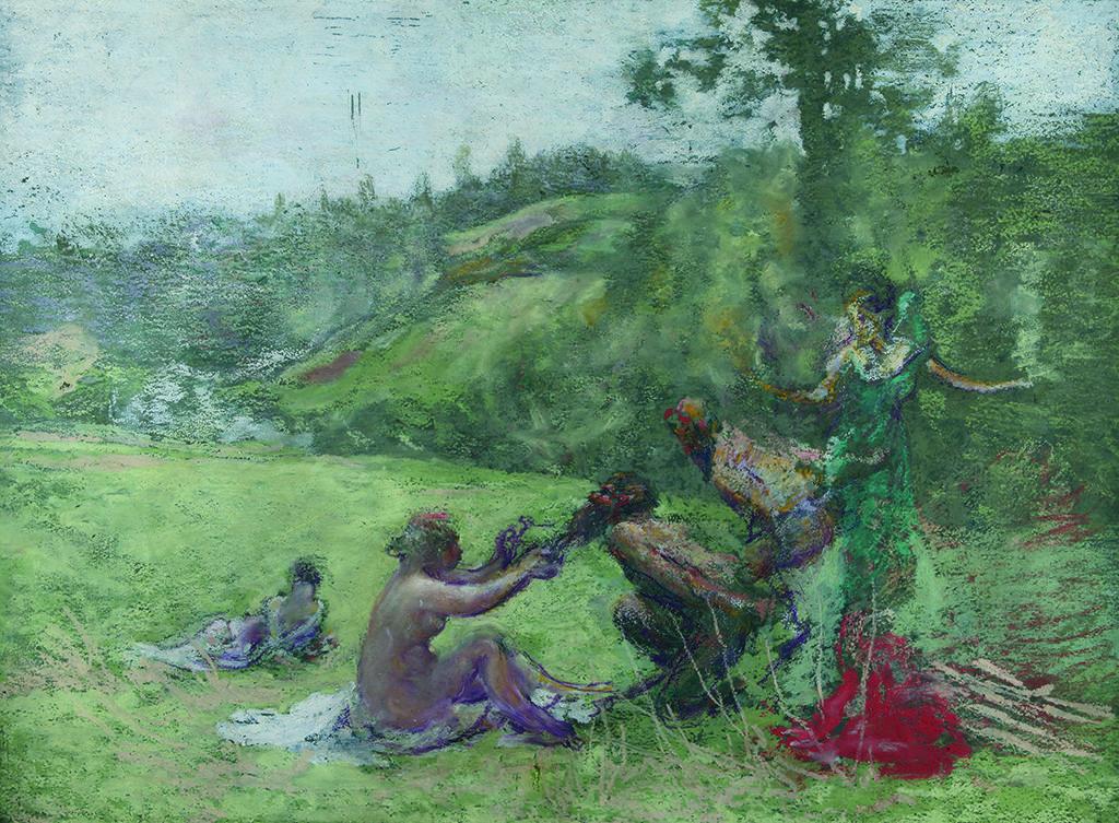 Кер-Ксавие Русел (1867 – 1944), Франция <br> Фавни и нимфи