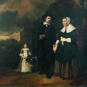 Питер Меркелбах (ок. 1633 – 1673), Нидерландска школа, ХVII в. <br> Портрет на семейство Донкер