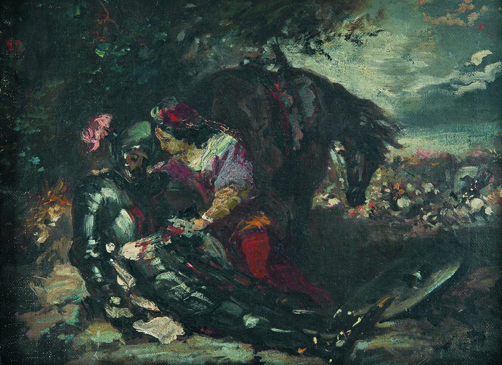 Йожен Дьолакроа (1798 – 1863), Франция <br> Смъртта на Лара (етюд), ок. 1848
