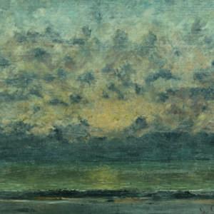 Гюстав Курбе (1819 – 1877), Франция <br> На брега на езеро Леман, ок. 1875