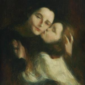 Йожен Кариер (1849 – 1906), Франция <br> Майка с дете, ок. 1885