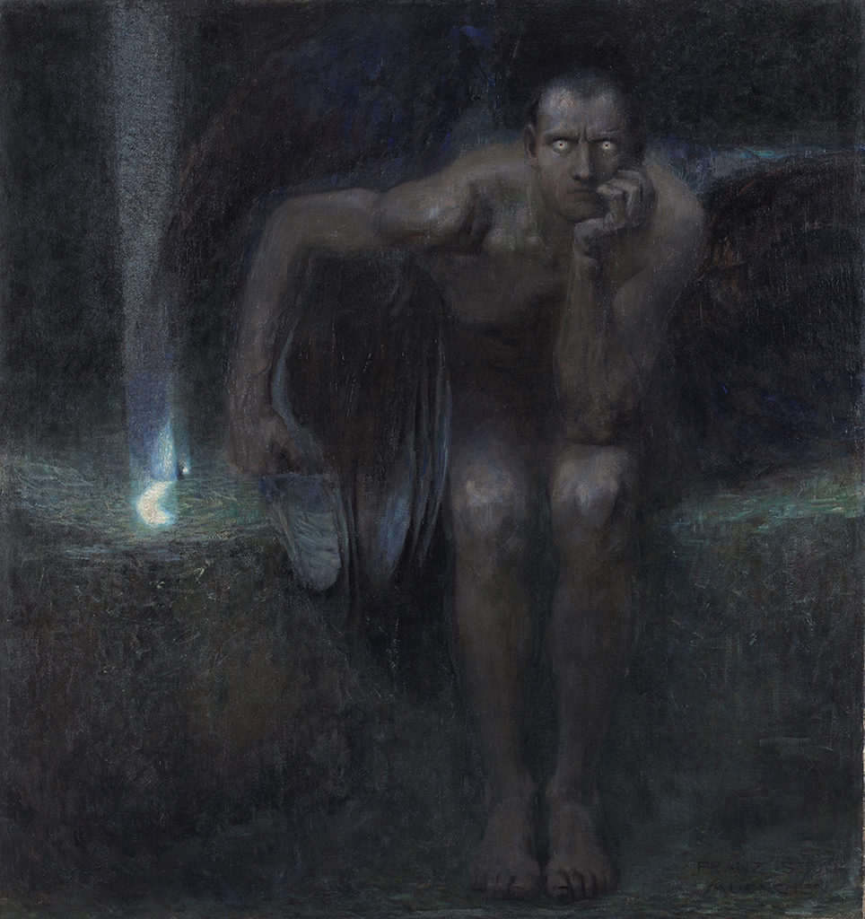 Franz von Stuck (1863–1928), Germany <br> Lucifer, 1891